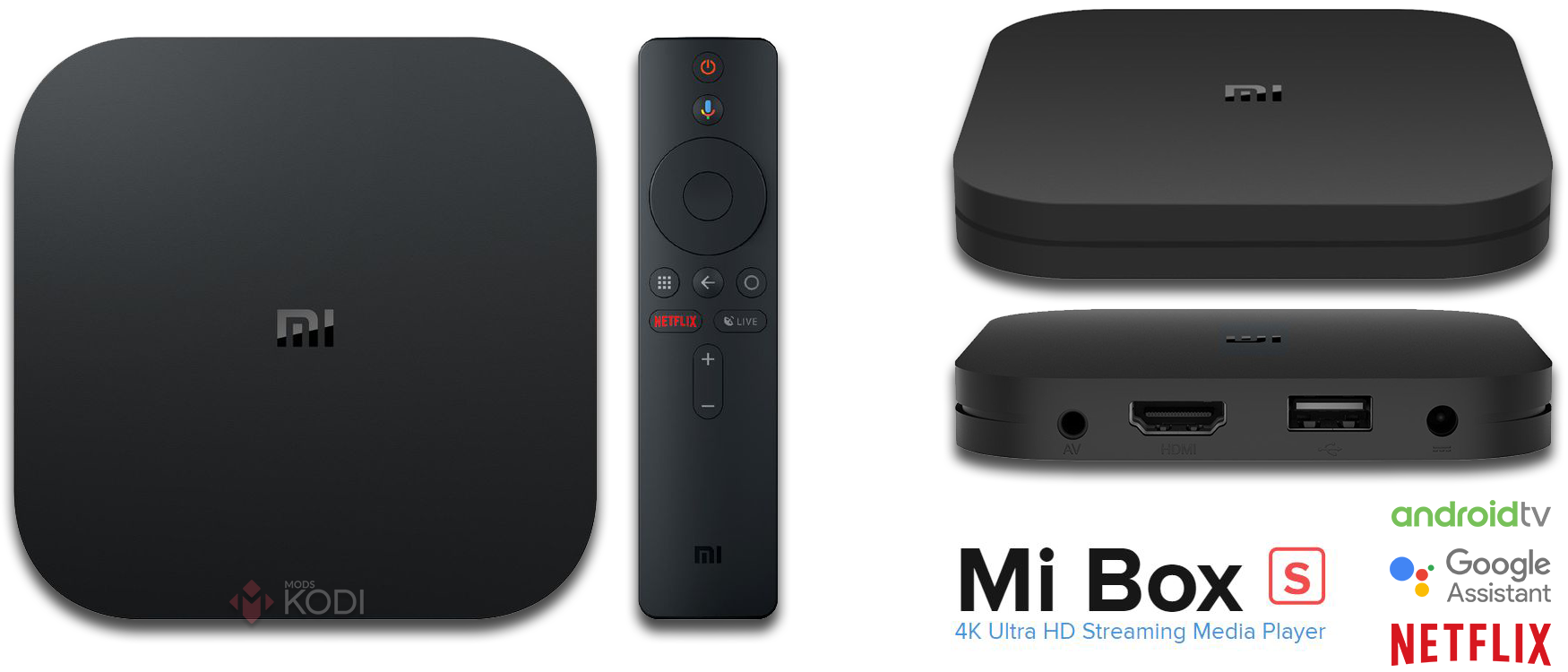 Xiaomi Mi Box S - nowy android-box, wersja 2018/2019, 4K HDR